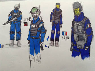 Counter strike gsg9 and gign by Lambda-fallout125