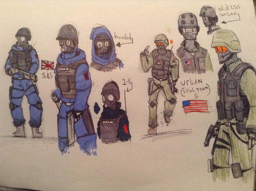 Counter strike SAS and Seal Team 6 by Lambda-fallout125