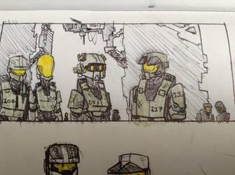 Halo doodle- bule team by Lambda-fallout125