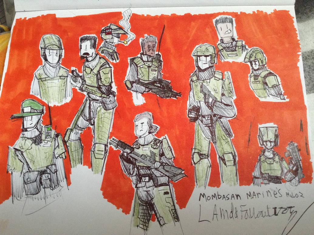 mombasa marines by Lambda-fallout125