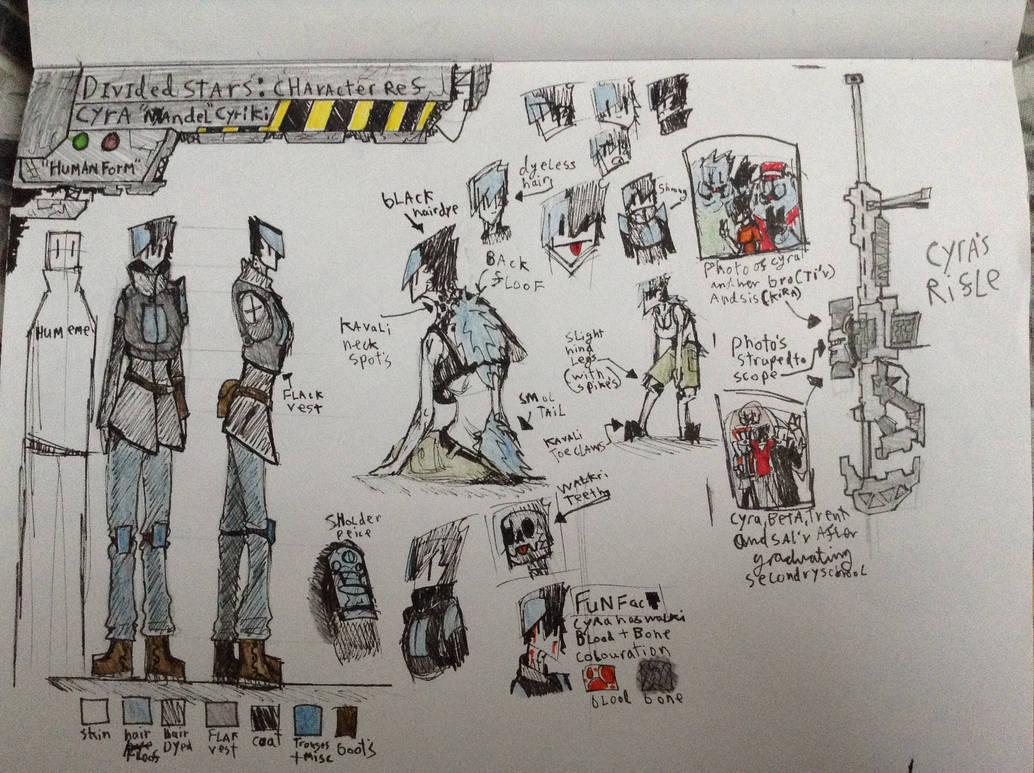 Cyra Human-Form:Reference Sketches by Lambda-fallout125