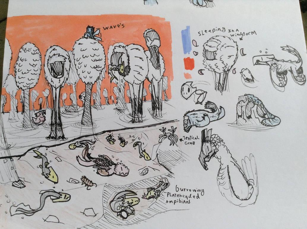 walkri marshland critters by Lambda-fallout125