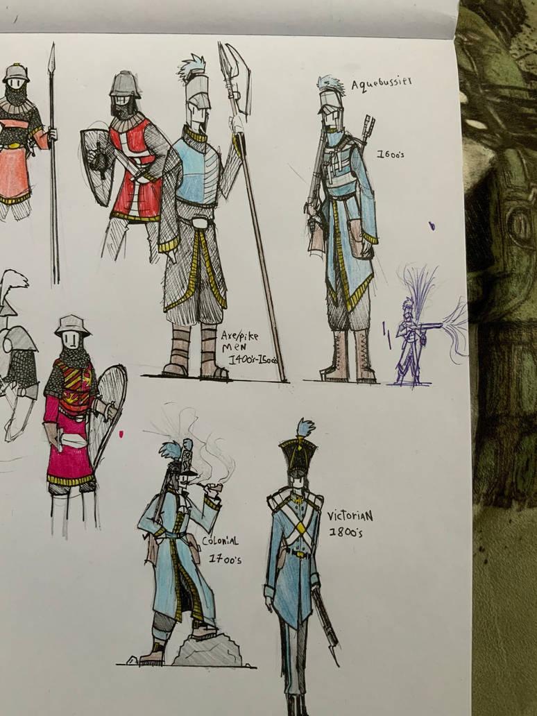 Uniform progression sketches  by Lambda-fallout125