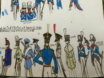 American shako uniforms  by Lambda-fallout125