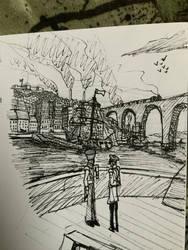 Victorian harbour doodle