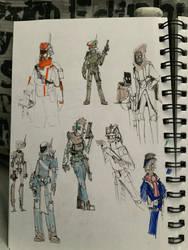 Bounty hunter doodles