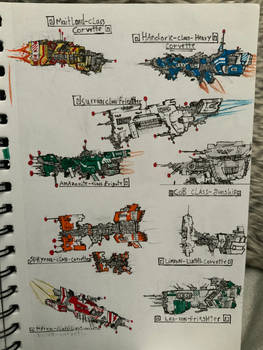 Corvettes and frigates sketches