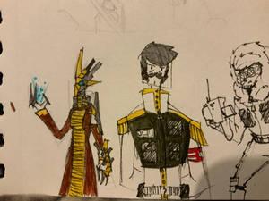 Golden Pen Doodles