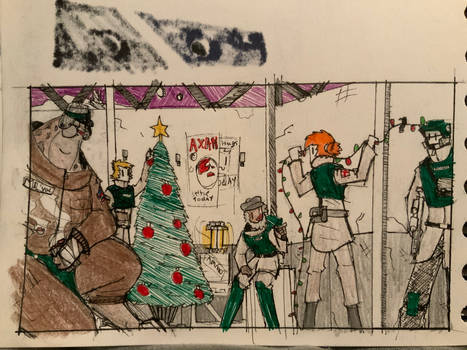 December doodles 09 Festivities on the front line