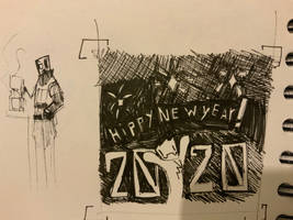 December doodles 31st HIPPY NEW YEAR!