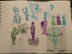 Halo Doodles 5/2/20 Cortana doodles
