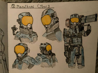 Marathon Cyborg Doodles by Lambda-fallout125