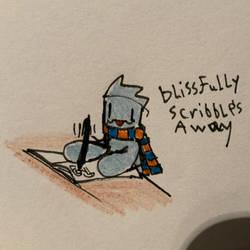 Blissful scribbling boi
