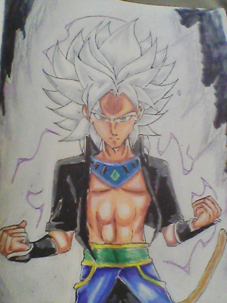 super saiyan lotus Brol by legendarybrol