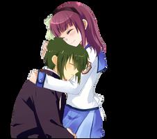Yuri x Naoi Hug Render by Ayurri