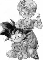 Trunks and Goten by shortlynish