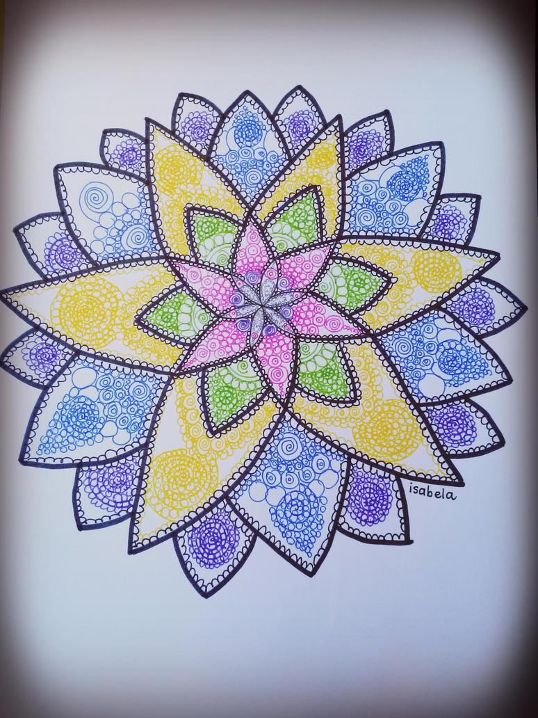 Mandala (drawing) by toinfinity18