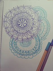 Mandala 2 (Drawing) by toinfinity18