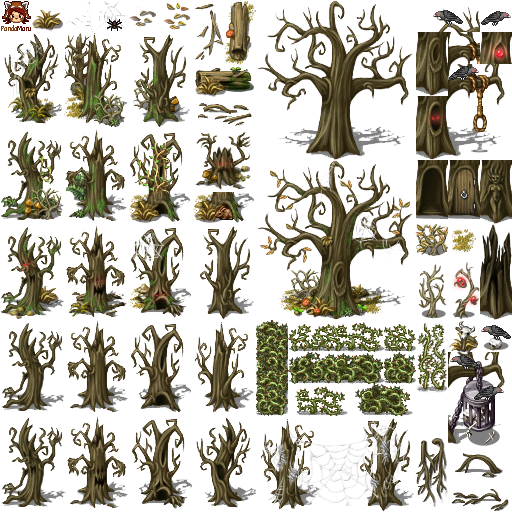Halloween forest by schwarzenacht on deviantart for Design home resources generator