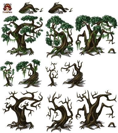 Swamptrees tileset - RPG TileSet Free Curated Assets for