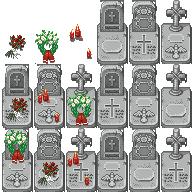 XP Tiles gravestones by SchwarzeNacht