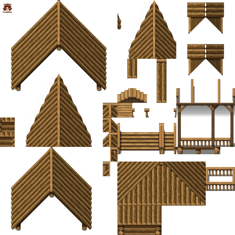blockhouse roof wood