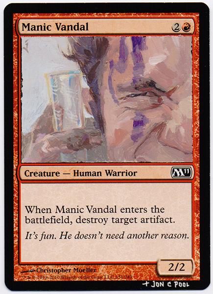 Manic Vandal MTG Card Repaint by JonCPool