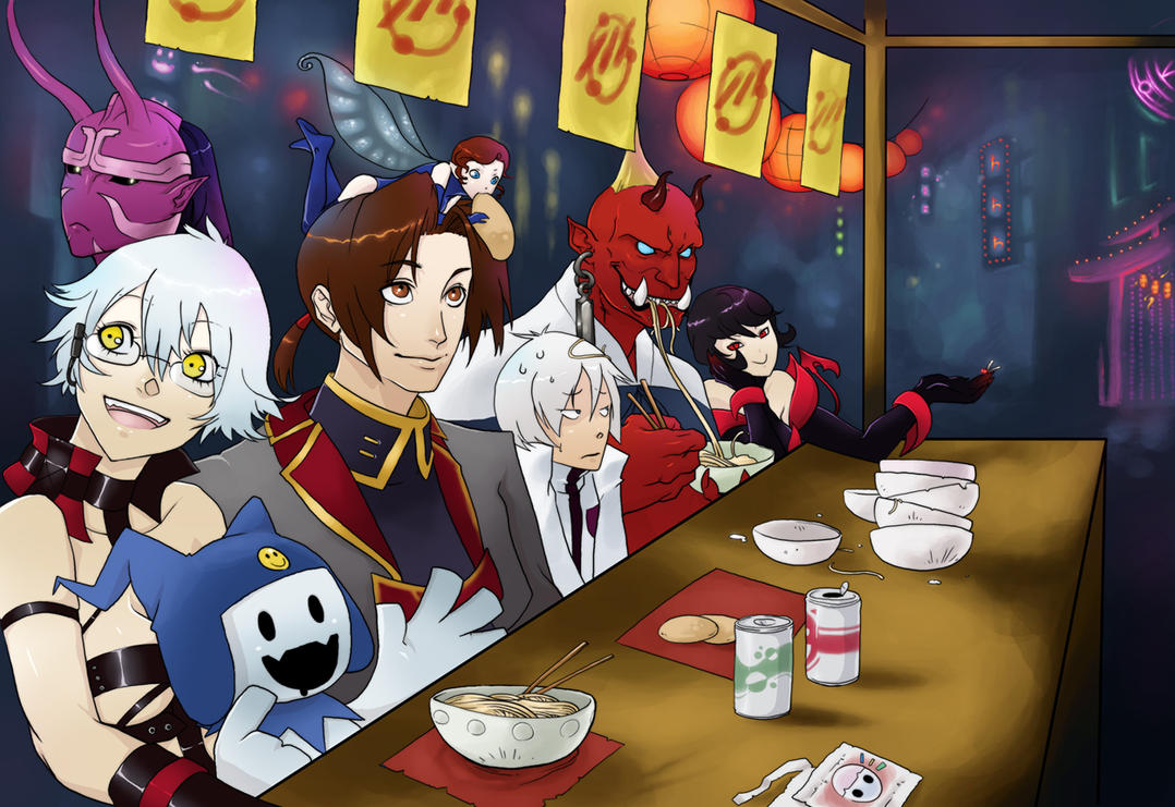 SMT - Night in Kabuki-Cho by WitheringMoon