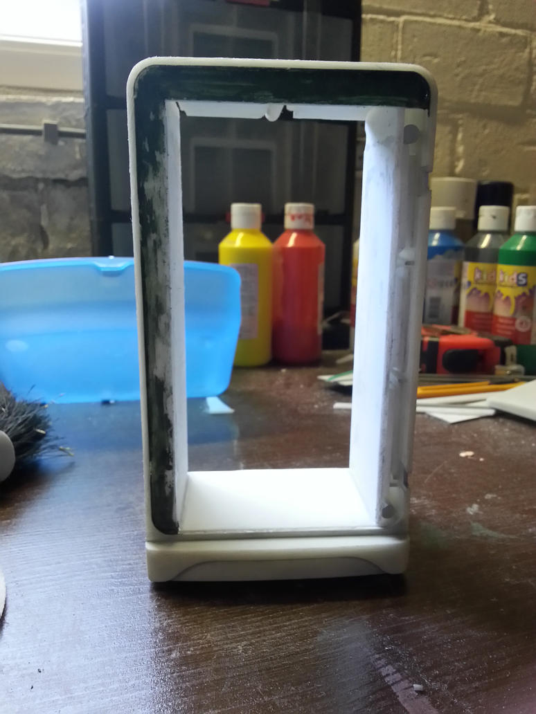 Doll house refrigerator part 8 (front) by lordsjaak