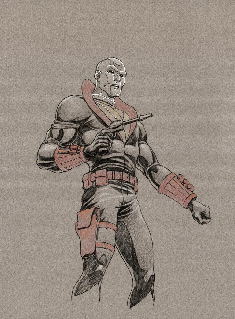 Destro sketch oaks G.I. Joe by leeoaks