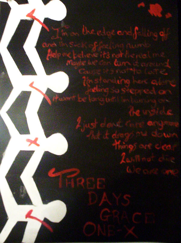 Lyrics for One-X by Three Days Grace - Songfacts