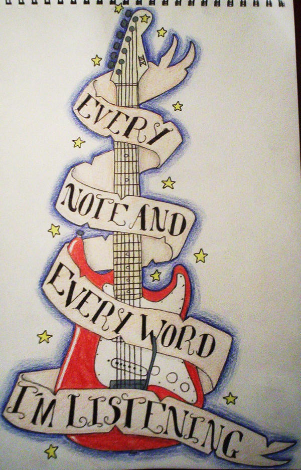 Guitar Tattoo Design by Synyster-VengeanceII