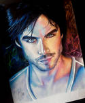 Damon Salvatore by artsarak