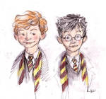 Ronald Weasley and Harry Potter