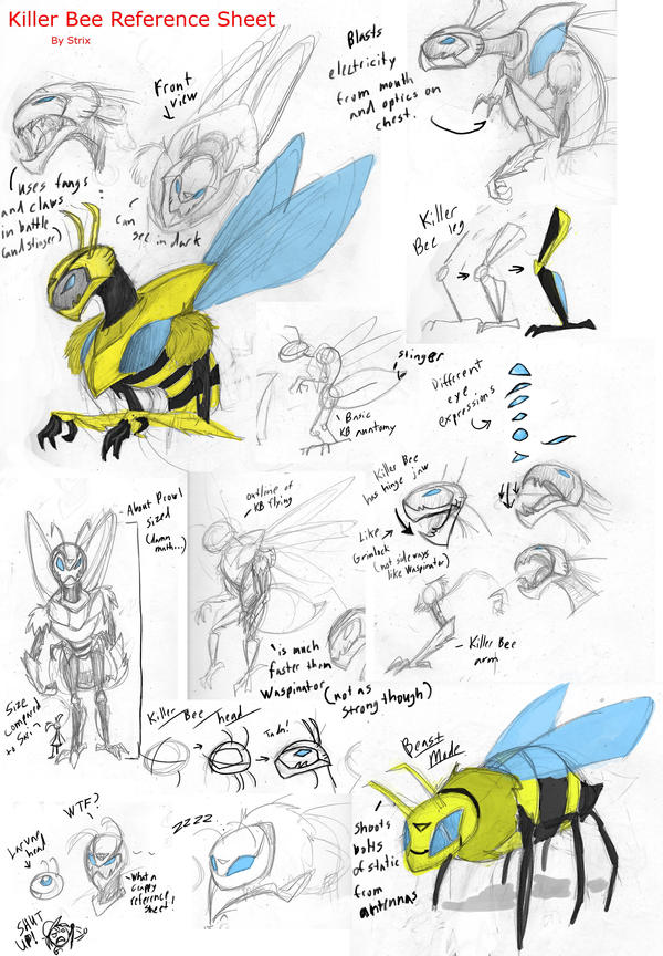 Killer Bee Reference Sheet by StrixMoonwing