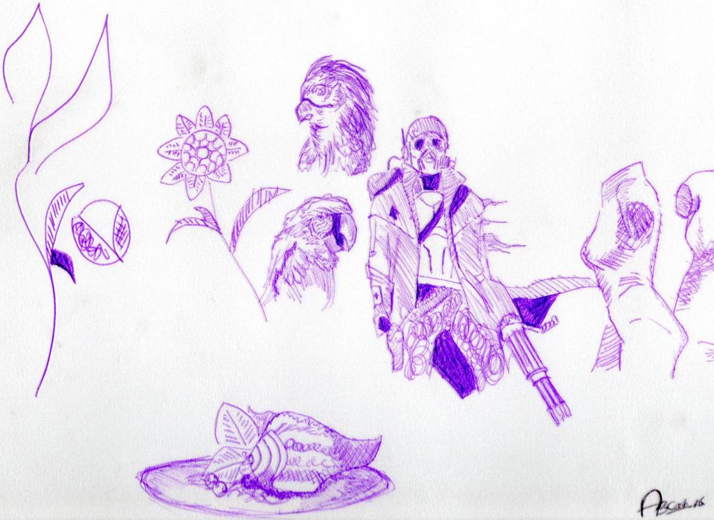 Styrofoam Print Sketches by folklore17