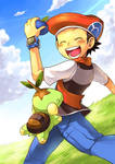 Happy Lucas and Turtwig