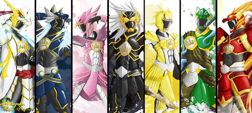 Pwer Rangers Mythich Champions by the-newKid