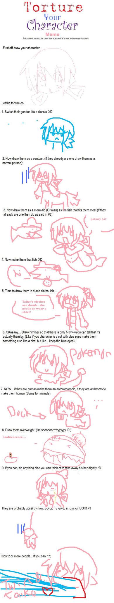 OOC: torture meme by Michiko-Nikora