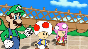 Luigi, Toad, and Toadette