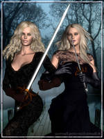 Blade Sisters: Iron and Velvet by Riveda1972