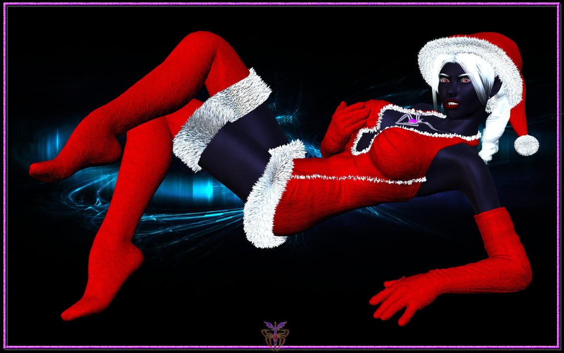 Drow Santa Helper Wallpaper by Riveda1972