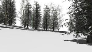 [MMD] Winter woods stage (DL Link)