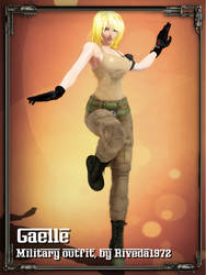 [MMD Commission] OC Gaelle (Military outfit) by Riveda1972