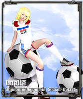 [MMD Commission] Gaelle, Olympique Lyonnais outfit by Riveda1972