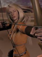 Enelya, portrait of a huntress by Riveda1972