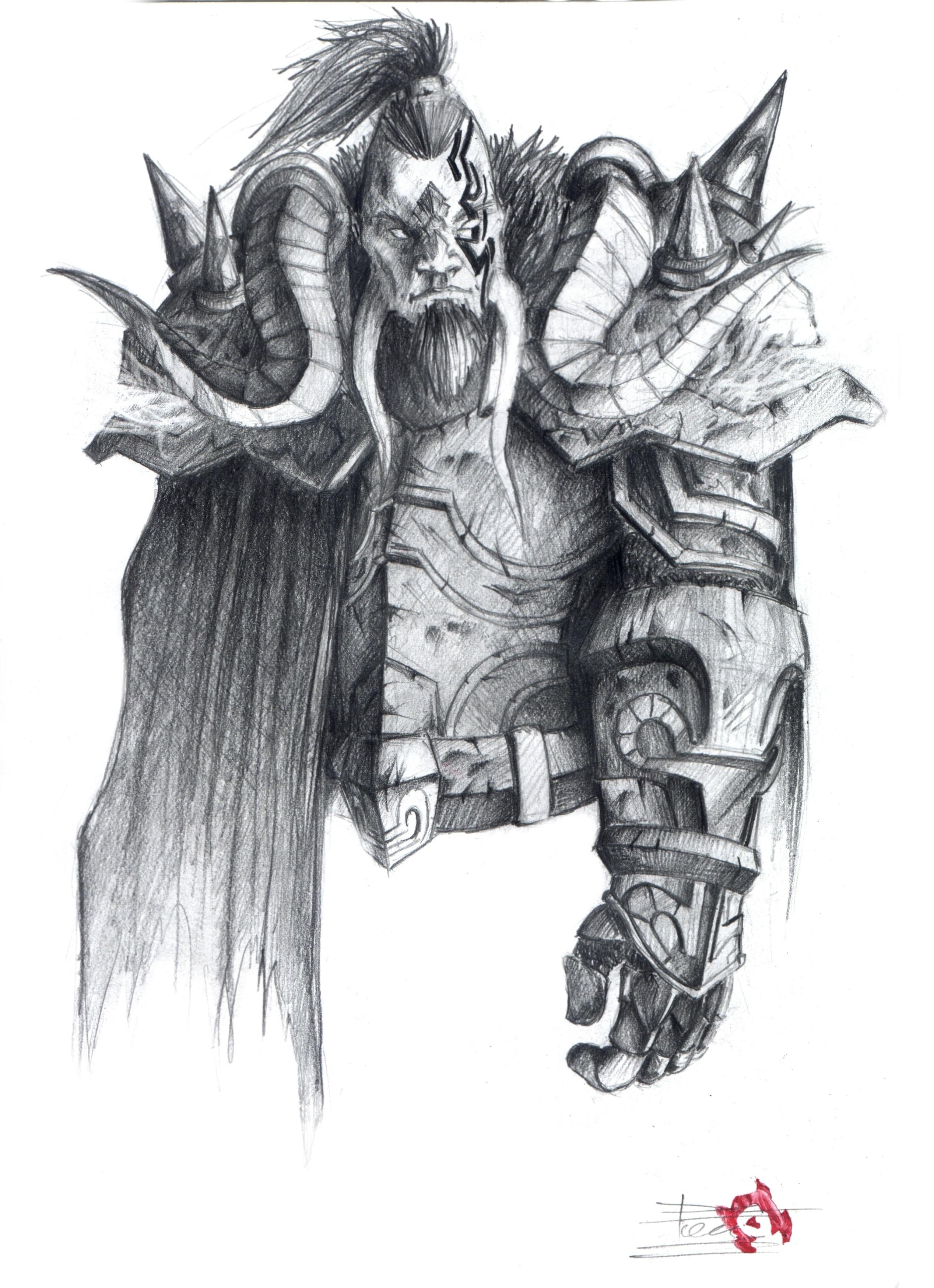 Deja aquí tus dibujos! ^^ - Página 2 Draenei_T4_Warrior_Set_by_Torrel
