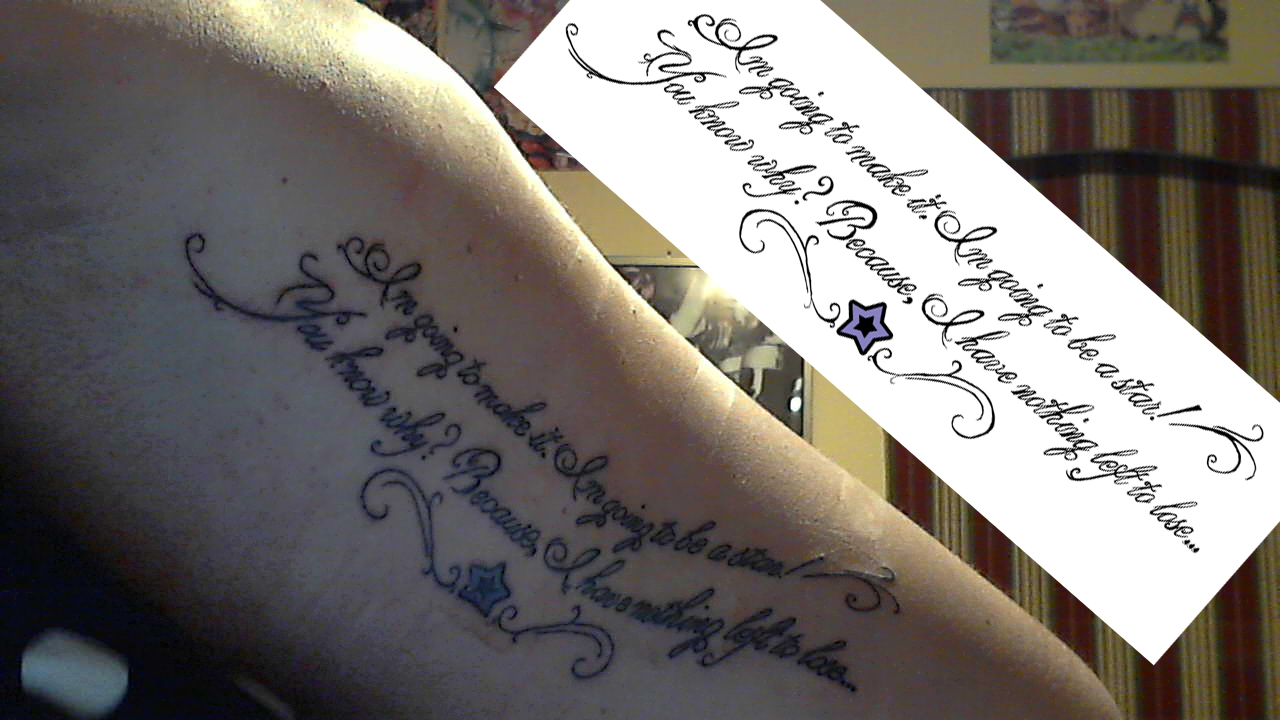 inspirational quote tattoo by dr anime on deviantart