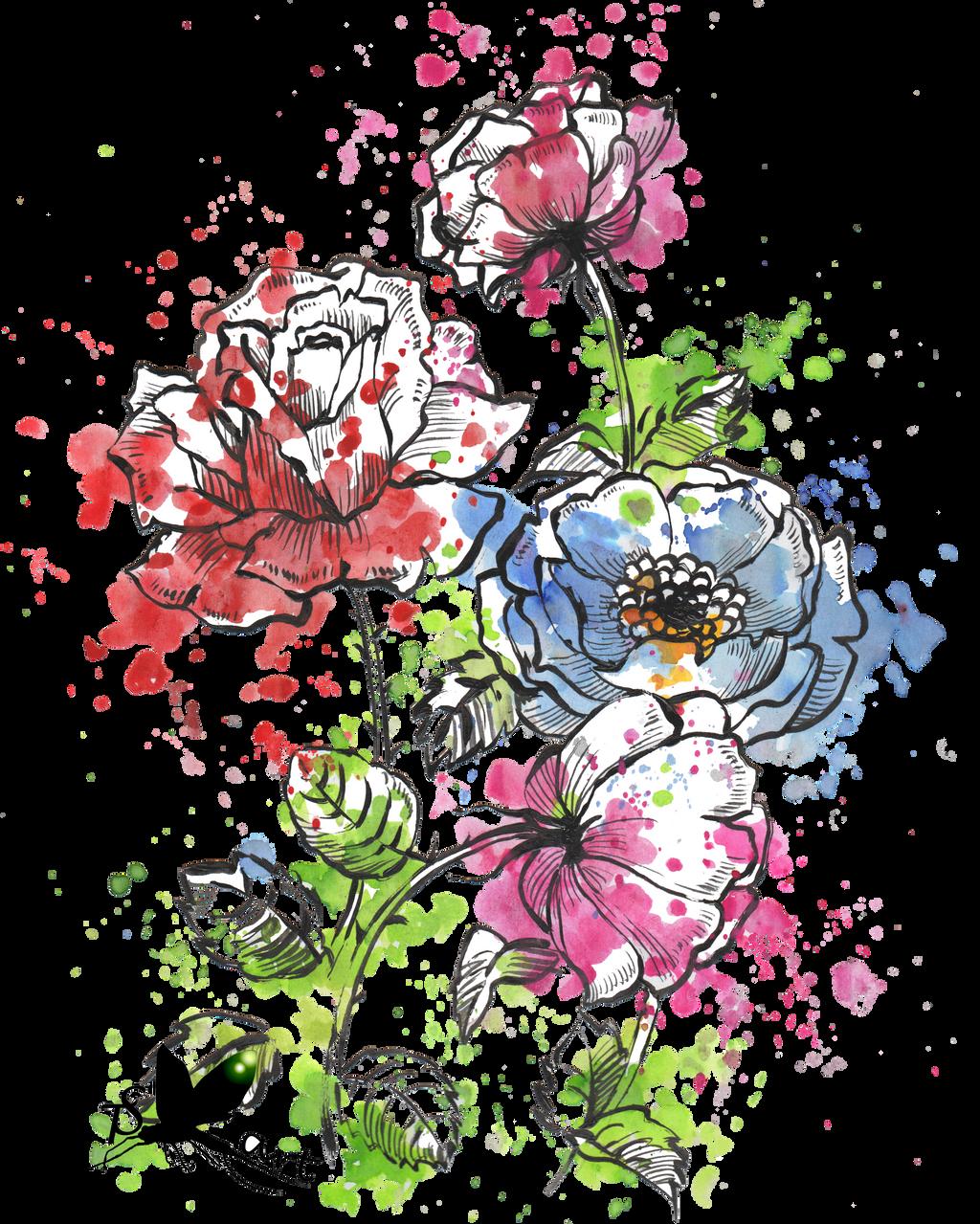 Watercolor flowers by Krmiol on DeviantArt