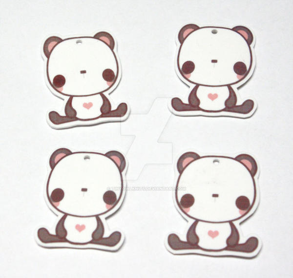 better panda charms by tinyowlknits